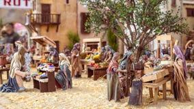 Valencia, España - 2 de diciembre de 2016: Escena de la natividad Imagenes de archivo