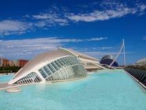 VALENCIA; ESPAÑA - 29 DE JULIO DE 2013: La ciudad de los artes y de las ciencias en Valencia, España Imágenes de archivo libres de regalías