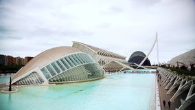 Valencia Europe Spain City of Arts and Sciences Valencia timelapse stock video footage