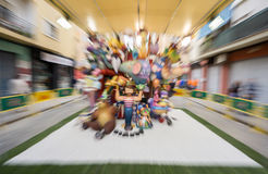 Valencia in Fallas, Children falla zoom out Stock Photography