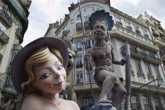 Valencia fallas festival Stock Photography