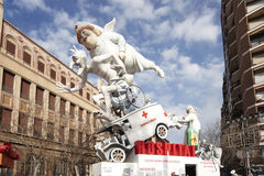 Valencia fallas festival Royalty Free Stock Photo