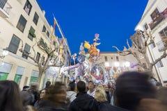 Valencia in Fallas 2015, Les Falles Stock Photo