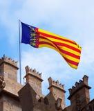 Valencia flagga Royaltyfri Foto