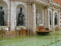 Valencia, fontana Fotografia Stock