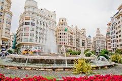 Valencia Fountain Fotografie Stock