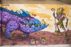 Valencia graffiti, old town Royalty Free Stock Photos