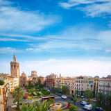 Valencia historic downtown El Miguelete and Cathedral Royalty Free Stock Photography