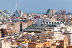 Valencia i en sommardag Fotografering för Bildbyråer