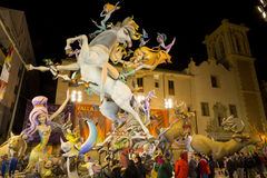 Valencia In Fallas Royalty Free Stock Photo
