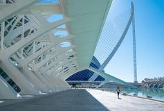 Valencia and its ancient and ultramodern architectures royalty free stock images