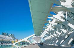 Valencia and its ancient and ultramodern architectures royalty free stock image