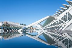 Valencia and its ancient and ultramodern architectures stock images