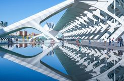 Valencia and its ancient and ultramodern architectures stock photography