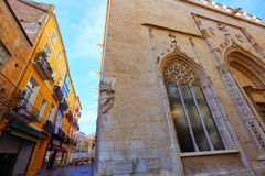 Valencia La Lonja de Seda historic building Royalty Free Stock Photo