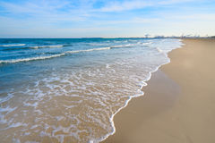 Valencia La Malvarrosa beach arenas Spain Stock Image