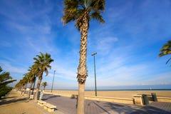 Valencia La Malvarrosa beach arenas Spain Stock Images