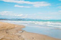Valencia La Malvarrosa beach Stock Photo