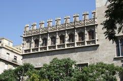 Valencia, Lonja, Consulaatsoverzees Stock Afbeelding