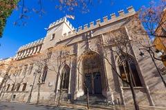 Valencia Lonja gothic facade UNESCO heritage Stock Photo
