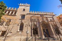 Valencia Lonja gothic facade UNESCO heritage Stock Image