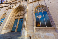 Valencia Lonja gothic facade UNESCO heritage Stock Photo