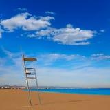 Valencia Malvarrosa beach Las Arenas Spain Stock Photos
