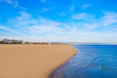 Valencia Malvarrosa beach Las Arenas Spain Stock Photo