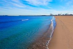 Valencia Malvarrosa beach Las Arenas Spain Royalty Free Stock Photography