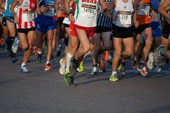 Valencia Marathon Stock Photos