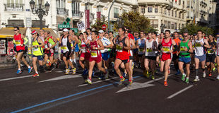 Valencia Marathon Royalty Free Stock Images