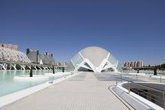 VALENCIA 22 MAY 2017 : City of Arts and Sciences : bridge detail Royalty Free Stock Photography