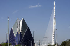 VALENCIA 22 MAY 2017 : City of Arts and Sciences : garden Stock Images