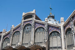Valencia - Mercado Central, Central Market exterio Royalty Free Stock Photo
