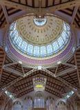 Valencia Mercado Central market dome indoor royalty free stock image