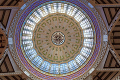 Valencia Mercado Central market dome indoor Royalty Free Stock Images