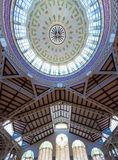 Valencia Mercado Central market dome indoor Stock Image