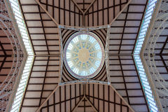 Valencia Mercado Central market dome indoor Royalty Free Stock Photography