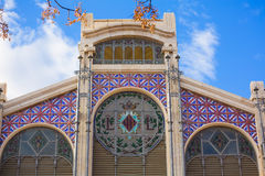 Valencia Mercado Central market facade Spain Royalty Free Stock Photos