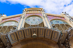 Valencia Mercado Central market facade Spain Royalty Free Stock Photography