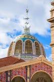 Valencia Mercado Central market outdoor dome Spain stock photo