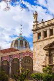 Valencia Mercado Central market outdoor dome Spain Stock Image
