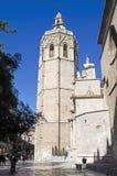 Valencia, Miguelete-klokketoren Royalty-vrije Stock Foto's