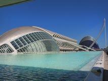 Valencia modern del av staden Arkivbilder
