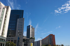 Valencia modern town skyline in Spain Royalty Free Stock Image