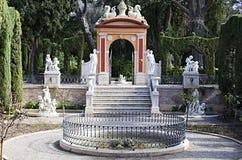 Valencia, Monforte-Gärten Stockbild
