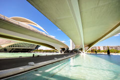 Valencia museum. Long bridge in Valencia museum Royalty Free Stock Images