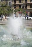 Valencia Neptuno fountain in Plaza de la Virgen Stock Photos