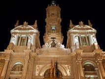 Valencia at night Stock Photo