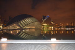 Valencia night Royalty Free Stock Photography